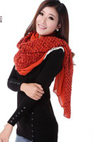 Yarn Dyed Long Twill Noble luxury Korean winter wool knit wild Faux Cashmere Shawl Scarf Ladies warm winter scarf