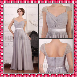 Wholesale Best Selling Plus Size Women Evening Dress A line Off the Shoulder Beaded Chiffon Prom Dress