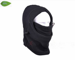 Black Warm Full Face Cover Winter Ski Mask Beanie Hat Scarf, Fishing Hat ,free shipping TH01