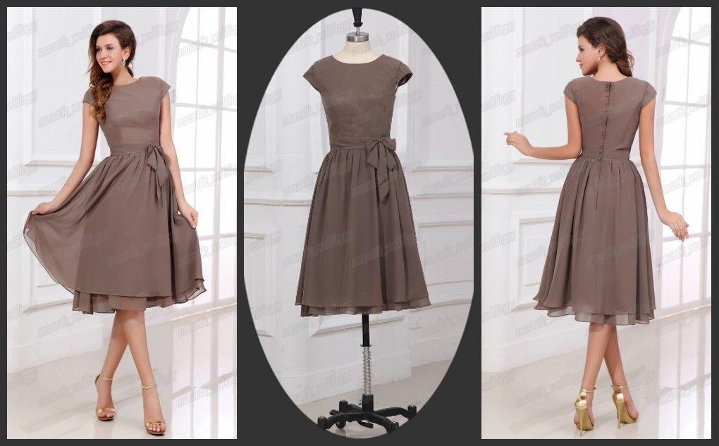 Below knee length evening dresses