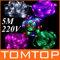 Wholesale 5m LED Colorful Ribbon Light strip Christmas Decoration xmas string light color EU V H9092