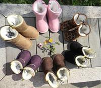 Wholesale Children s Leopard Snow Boots Cheap Kids Shoes LJ Unisex Boots Warm Stable Winter Hardwearing Shoes