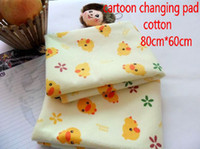 Wholesale Baby Changing Pad Soft Cotton Material TPU Waterproof Mat Cute Duck Print Changing Pad cm cm