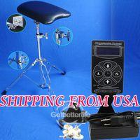 tattoo chair - Top Digital LCD Tattoo Power Supply Tattoo Por Arm Leg Rest Adjustable Chair Kit Feeshipping USA