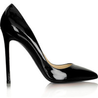 Wholesale LOTOYO Pointed Toe black patent leather high heels women lady fashion new style Pump shoes qc028