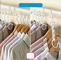 Wholesale New Space Saver Wonder Magic Hanger clothes Closet Organizer Racks