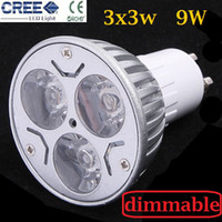 Wholesale Dimmable GU10 W x3W CREE High power LED Spot Light Bulb Spotlight downlight lamp W replacement