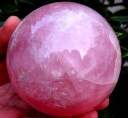 Wholesale NATURAL ROSE QUARTZ CRYSTAL SPHERE Healing MM