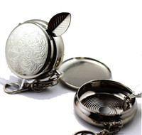 Wholesale Mini Ashtrays Portable Ashtrays Stainless steel metal With Keychain Inlaid Rhinestone