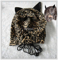 Cheap [CS009]Hood Leopard Mask hoods Mask head gear SM bondage sex toys adult product