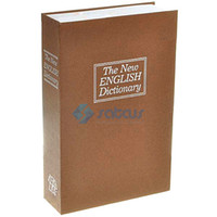 Wholesale Large Size English Dictionary Book Security Cash Coofer Lock Box Locker and Key