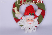 Wholesale Merry Christmas tree ornaments gift Santa Claus Decorations Christmas wall door hanging hang