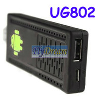 Wholesale UG802 Model TV Box Android TV Box Dual Core Cortex Android TV media box EMS from Flydream