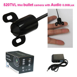 Wholesale Hot amazing wider angle mini bullet camera with tvl high resolution color audio CCTV camera