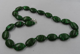 Natural malachite 13*18 oval agate necklace fashion popular short paragraph