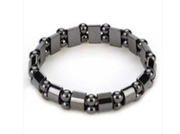 Wholesale Black Magnetic Hematite Beads men s amp women s Bracelet