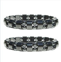 Wholesale Black Magnetic Hematite Beads Magnetic Hematite Therapy Bracelets Lg mm Pain Relief
