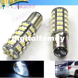 Powerful Car LED Light DC 12V White Stop tail Car bulb Brake Light Rear Lamp 68 LED 3528 SMD 1157 BAY15D 2705