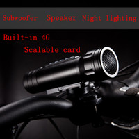 Wholesale Bicycle lights Magic Music torch Multi function Bike Speaker MP3 and Flashlight MP3