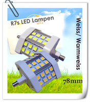 Wholesale New W LED Flood light R7s mm SMD LED Lamp Sopt Light Decoration bulb lamp White Warm white