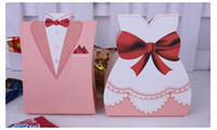 Wholesale New Wedding Supplies Candy Boxes Creative Wedding Packing Box