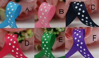 Wholesale Pretty mm Grosgrain Mixed Colors Polka Ribbon DIY gift wrapping hair Accesory