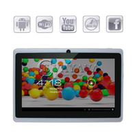 Wholesale Q8 inch Q88 Android Tablet PC F1 Allwinner A13 Ghz Dual Camera MB DDR3 GB White Flash