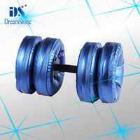 Wholesale Shenzhen sport dumbbell Water Poured Dumbbell By EMS pairs