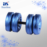 Wholesale New Type Dumbbell Water Poured Dumbbells pairs have RoHS approval EMS