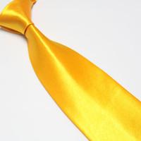 Wholesale Gold Solid Color Covona Men s Neck Tie amp men s tie shirts ties solid color tie factory tie new
