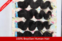 Wholesale Queen quot quot Brazilain Virgin Hair extension Body wave Remy Human Hairs Weave Mix BHW05