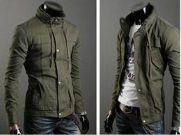 Wholesale Men s Coat Outerwear Jacket Men s Slim Multi zipper design Double neck Jacket Coat Outerwear