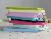 Wholesale TPU Soft Bumper Frame Matte Hard Back Cover Case for apple touch th colorful