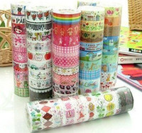 Wholesale cute cartoon color tape stick tape color printed tape Student Stationery tape Office A