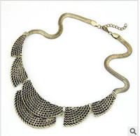 Wholesale Alloy Fashion Jewelry Vintage exaggerated punk metal harbor Necklace color mixture