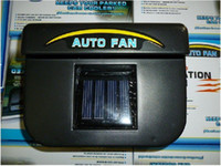 Wholesale Freeshipping pc Solar Sun Power Car Auto Air Vent Conditioning Cool Cooler Cooling Fan Auto fan sol