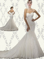 Wholesale Full Refund Guarantee new arrival sexy strapless court train chiffon wedding dresses AL120