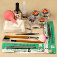 CM157 eyelash extension kit - False Eyelash Extension Kit Curlers Rods Glue Tweezers Eyelashes Brush CM157