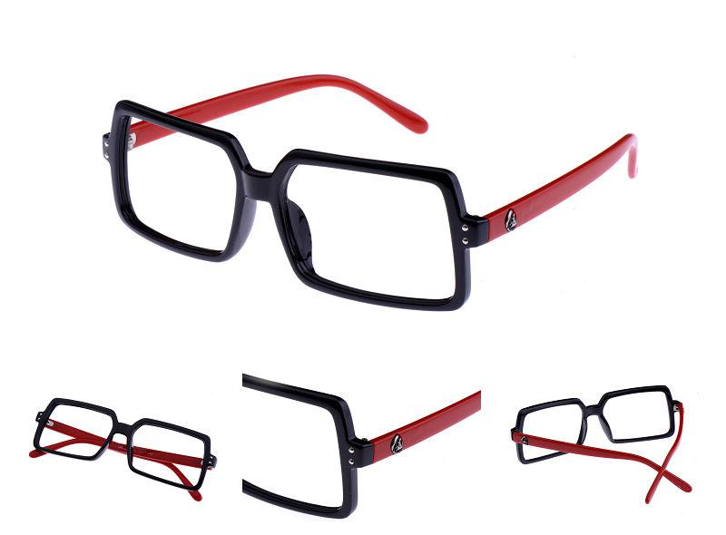 square eyeglasses fashion retro skull spectacles mens glasses frame 4 colours