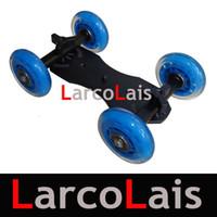 Sliders camera slider - Blue DSLR Truck Skater Wheel Table Top Compact Dolly Slider Kit For SONY Canon Nikon
