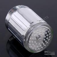Wholesale Glow Flow LED Faucet Kitchen Bathroom Tap color