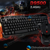 Wholesale Brand new LingDu D9500 GHz Wireless M Distance Games Gaming Keyboard Mouse Combos Black