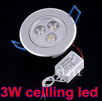 Wholesale 3W LED Ceiling Light V Dimmable LED Downlight Spotlight Fixture Lamp White Warm White