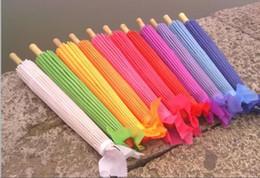 Wholesale Bridal Wedding Parasols Solid Color Straight Sun Umbrellas Chinese Craft Umbrellas