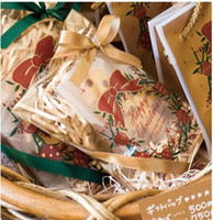 Wholesale Baking packing Christmas packaging golden Christmas wreath no self styled gingerbread biscuits bag