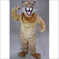 2012 new Cougar Mascot Cartoon clothing manufacturers custom...