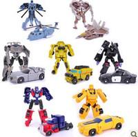 Revisiones Juguetes robot-¡Entrega gratis! 7 PCS: el coche del robot juega A ++