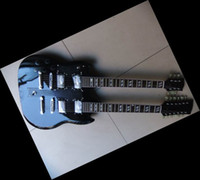 Solid Body double neck - left handed Double neck electric guitar in black