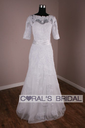 Wholesale 2012 Round collar of sleeve A line bud silk satin small train trailing wedding dresses the actual