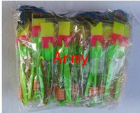 Wholesale 200pcs Newest toy LED Amazing arrow helicopter Flying umbrella OPP BAG CARD PACKING